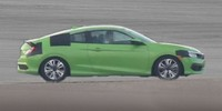 Купе Honda Civic 2015 на тестах